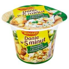 Danie w 5 minut puree z grzankami i cebulą