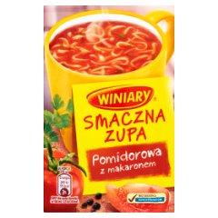 Smaczna zupa winiwry pomidorowa z makaronem