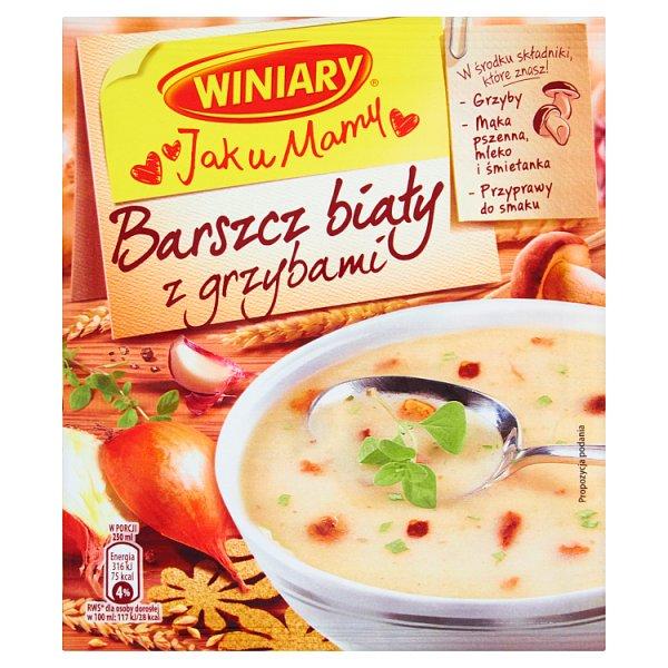 Zupa jak u mamy barszcz biały z grzybami