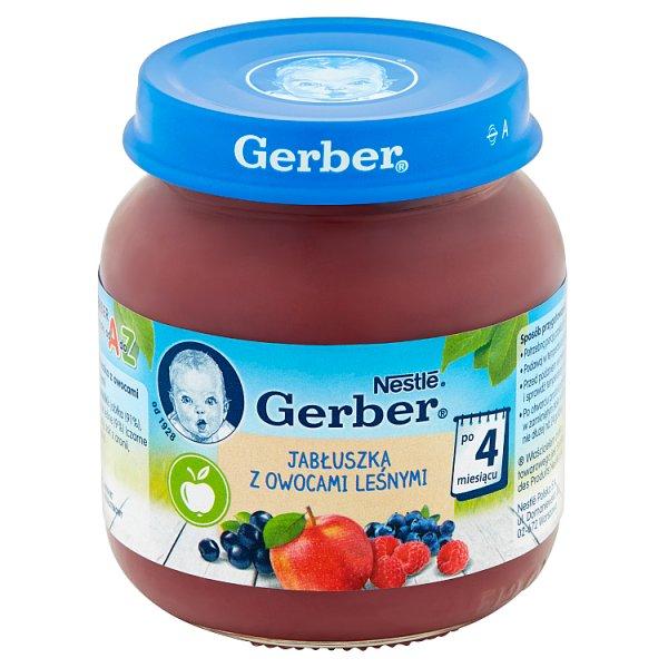 Deser Gerber  jabłuszka z owocami leśnymi