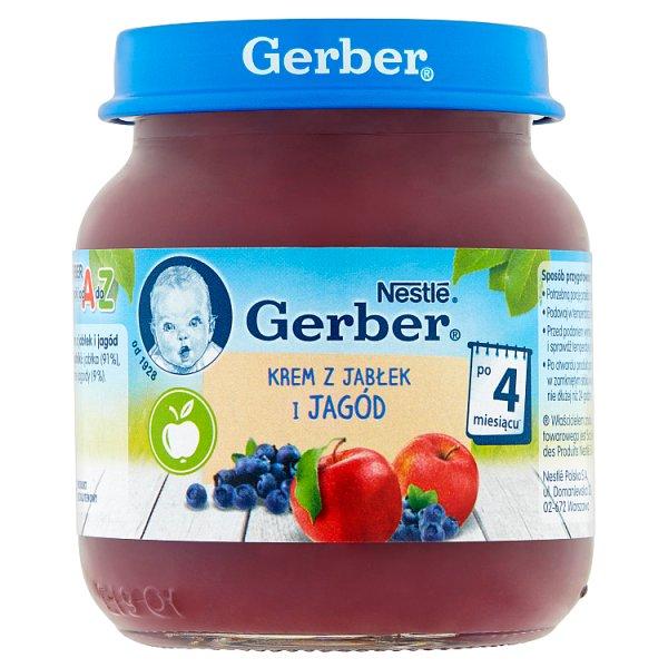 Gerber Krem z jabłek i jagód po 4 miesiącu 125 g