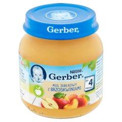 Gerber Mus jabłkowy z brzoskwiniami po 4 miesiącu 125 g