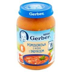 Zupka Gerber pomidorowa z indykiem i ryżem