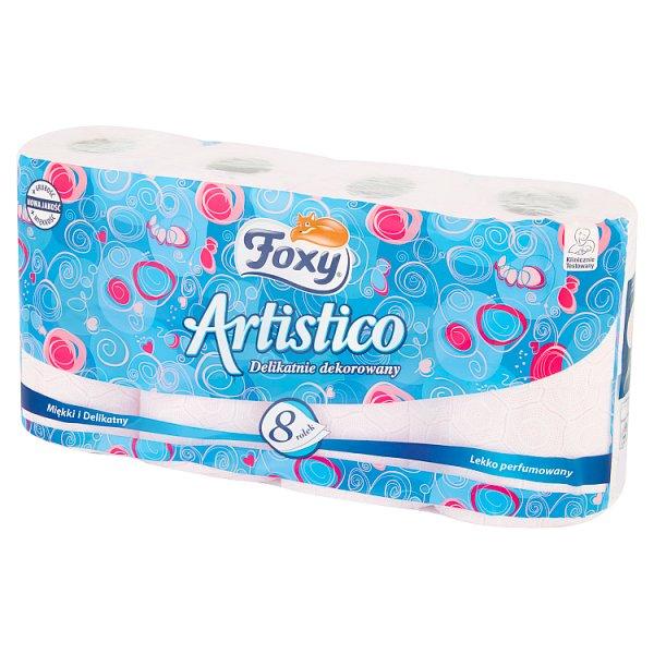 Papier toaletowy Foxy Artistico różowy /8rolek