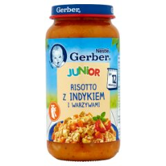 Danie Gerber taaki duży risotto z indykiem i warzywami