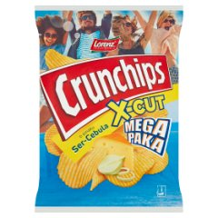 Chipsy Crunchips x-cut ser i cebula