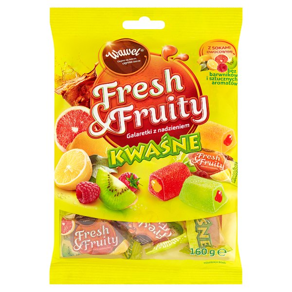Cukierki galaretki  Fresh & Fruity kwaśne
