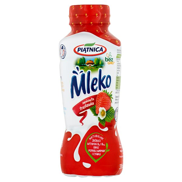 Piątnica Mleko smakowita truskawka 330 ml