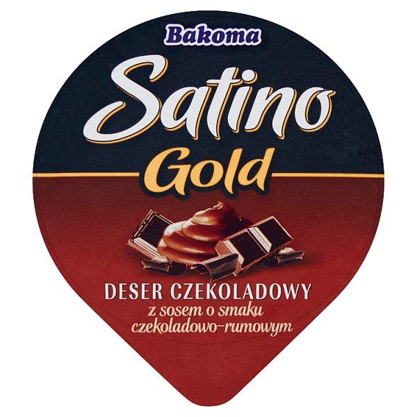 Bakoma Satino Gold Deser czekoladowy z sosem o smaku czekoladowo-rumowym 135 g