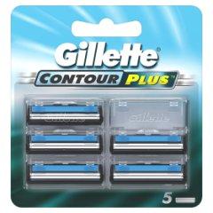 Gillette Contour Plus Ostrza wymienne do maszynki, 5 sztuk