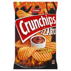 Chipsy Crunchips z żaru o smaku sos bbq