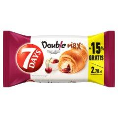 7 Days Doub!e Max Croissant z nadzieniem o smaku waniliowym i wiśniowym 110 g