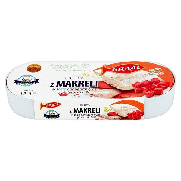 Filet z makreli w sosie pomidorowym z płatkami chilli