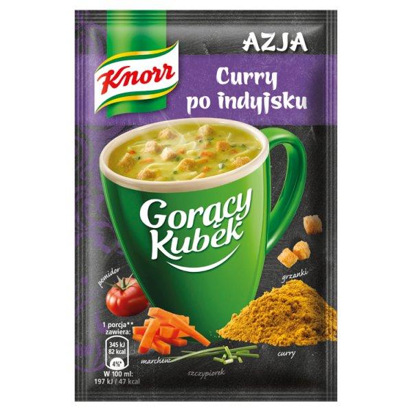 Gorący kubek curry po indyjsku
