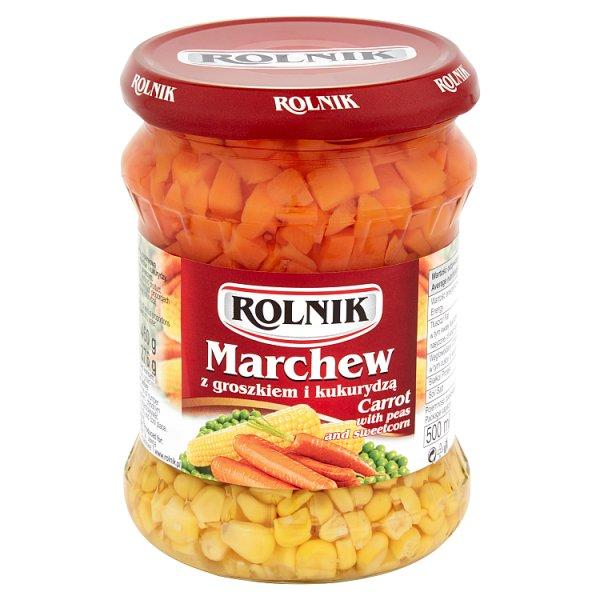 Marchew Rolnik z groszkiem i kukurydzą