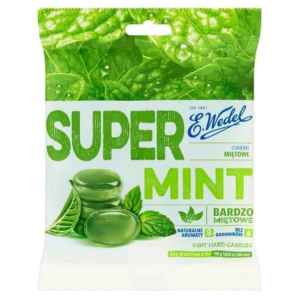 E. Wedel Super Mint Cukierki miętowe 90 g