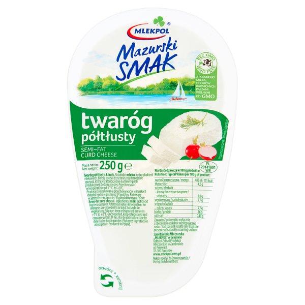 Mlekpol Mazurski Smak Twaróg półtłusty 250 g