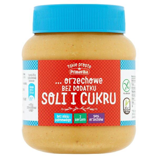 Primavika Pasta orzechowa bez dodatku soli i cukru 350 g