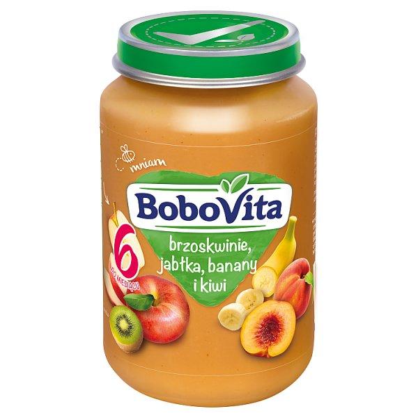 Bobovita brzoskwinie jabłka banany kiwi