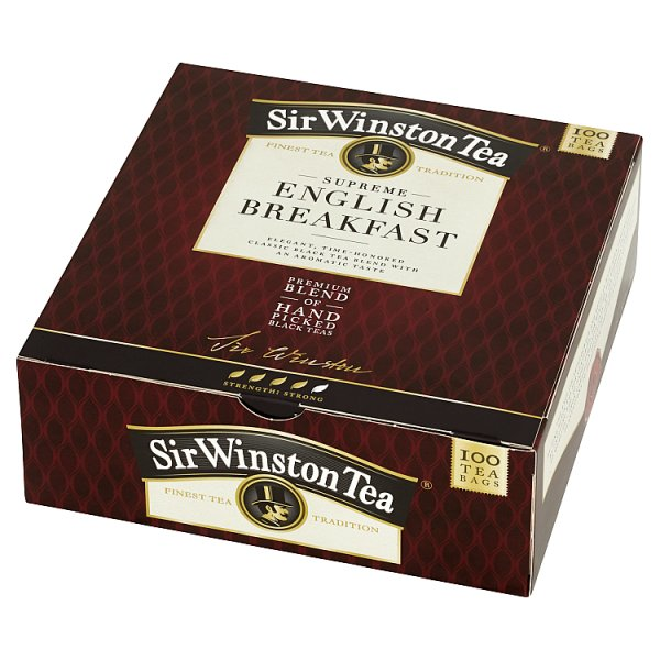 Sir Winston Tea Supreme English Breakfast Herbata czarna 180 g (100 x 1, 8 g)