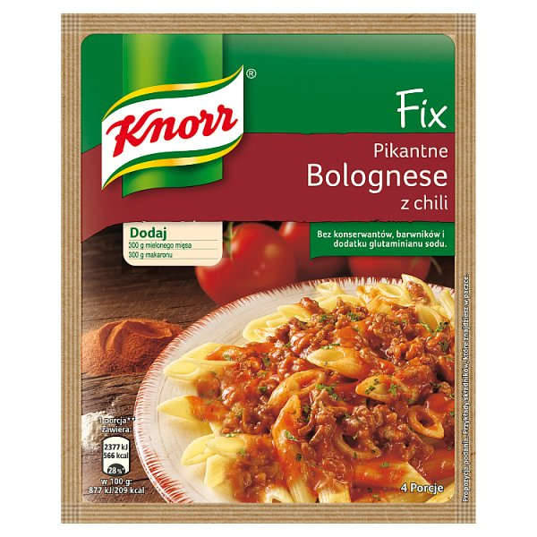 Fix Knorr do Spaghetti bolognese z chili