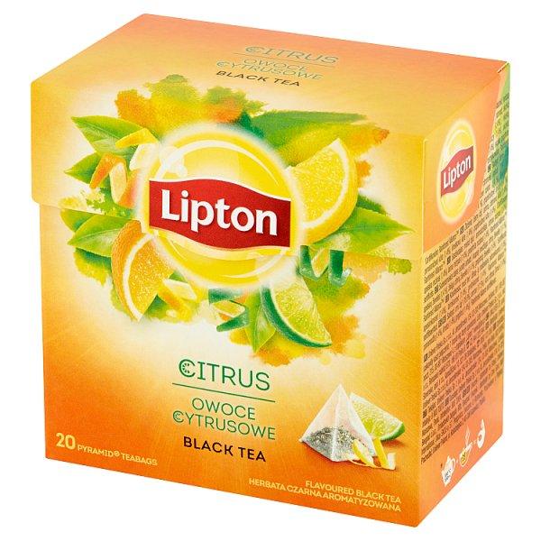Lipton Herbata czarna aromatyzowana owoce cytrusowe 36 g (20 torebek)