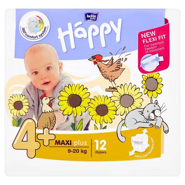 Pieluszki Pieluszki Happy 4+ Maxi Plus 9-20 kg