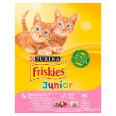 Friskies Junior karma sucha z kurczakiem i marchewką dla kota