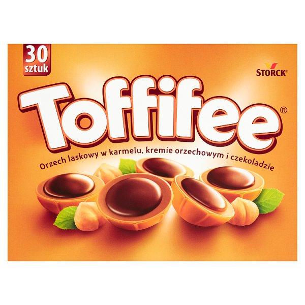 Toffifee Orzech laskowy w karmelu kremie orzechowym i czekoladzie 250 g (30 sztuk)