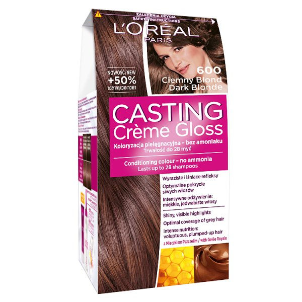 Farba L'oreal Casting Creme Gloss 600 - Ciemny Blond