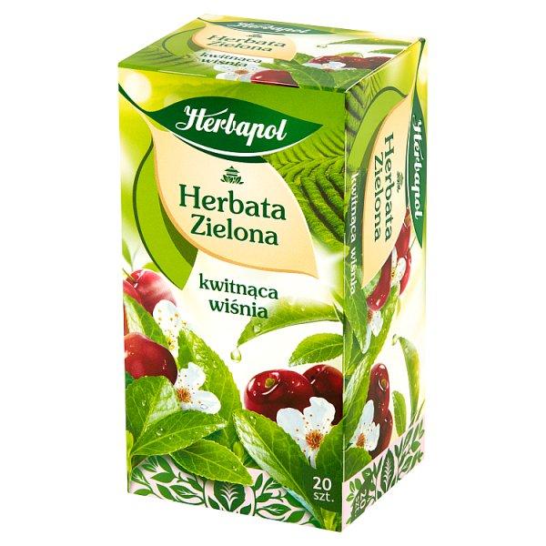 Herbata Herbapol zielona z Kwitnącą Wiśnią 20*1,5g