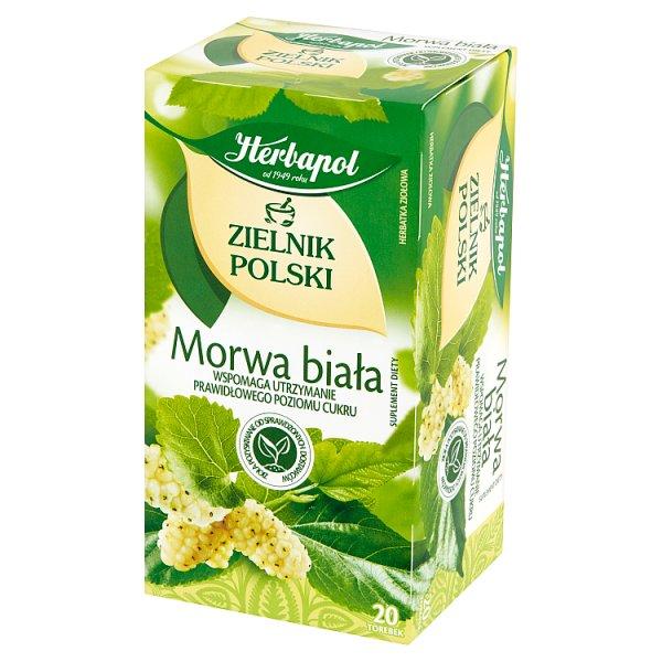Herbapol Zielnik Polski Suplement diety herbatka ziołowa morwa biała 40 g (20 x 2 g)