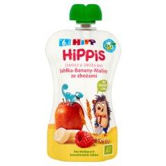 Hippis jabłka-banany-maliny ze zbożami/100g