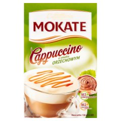 Mokate Caffetteria Cappuccino o smaku orzechowym 150 g (10 x 15 g)