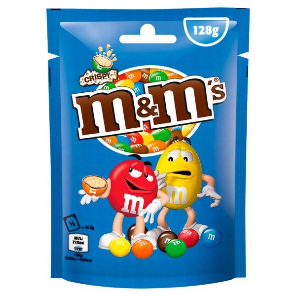 M&M's Crispy Cukierki z mlecznej czekolady z kruchym ryżowym wnętrzem 128 g