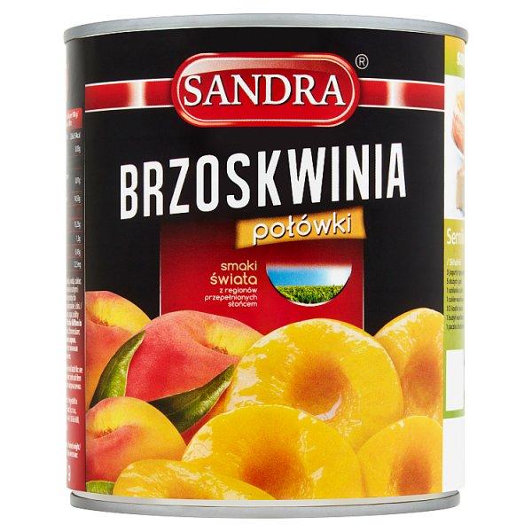 Sandra Brzoskwinie połówki 820 g