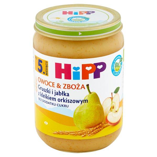 Owoce Hipp gruszki i jabłka z kleikiem orkiszowym Bio