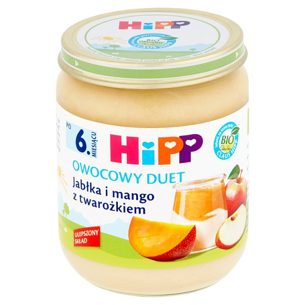 Deser Hipp jabłko i mango z twarożkiem