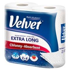 Ręcznik Velvet czysta biel najdłuższy /2rolki