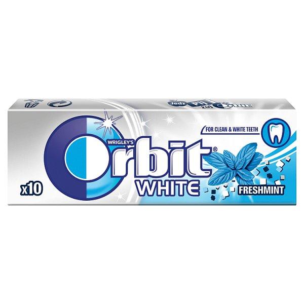Guma Orbit White Fresh Mint 10 drażetek