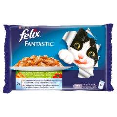 Felix Fantastic Karma dla kotów wybór mięs z warzywami w galaretce 400 g (4 x 100 g)