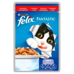 Felix Fantastic Karma dla kotów z wołowiną w galaretce 100 g