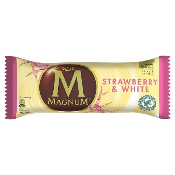 Lody magnum strawberry white