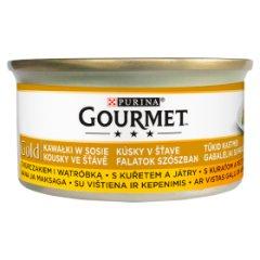 Gourmet Gold kawałki kurczak,wątróbka dla kota