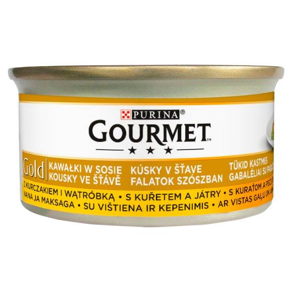 Gourmet Gold Karma dla kotów kurczak i wątróbka w sosie 85 g