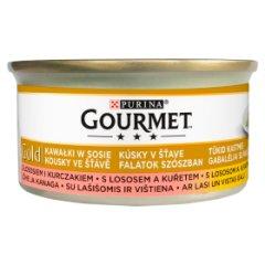 Gourmet Gold łosoś i kurczak w sosie puszka dla kota