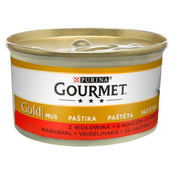 Gourmet Gold Karma dla kotów mus z wołowiną 85 g