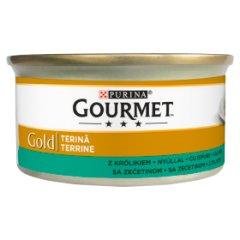 Gourmet Gold kawałki królika w pasztecie puszka dla kota