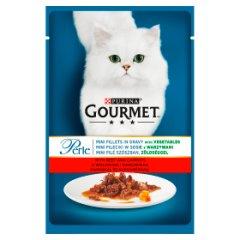 Gourmet Perle Karma dla kotów mini fileciki w sosie z wołowiną i marchewką 85 g