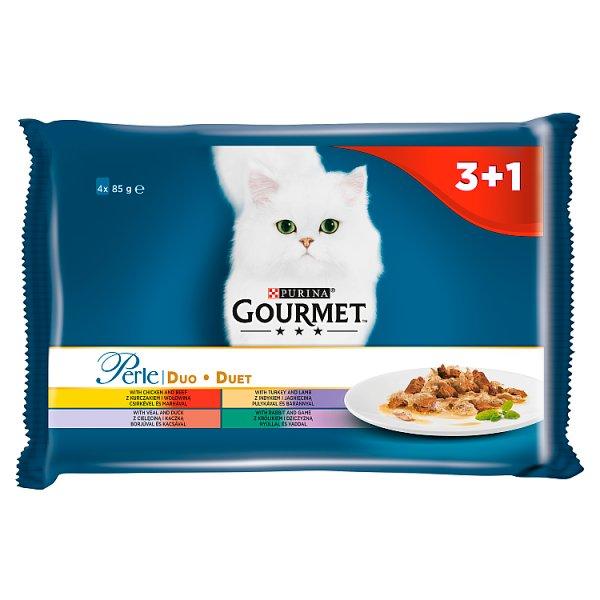 Karma Gourmet Perle Duet mięsny szaszetki 4*85g